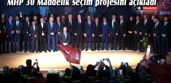 Bayburt'ta MHP 30 Maddelik Seçim Projesini Açıkladı