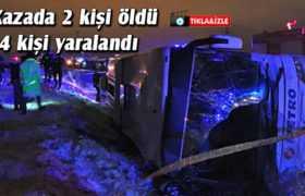 Bayburt'ta Yolcu Otobüsü Devrildi 2 Kişi Öldü 24 Kişi Yaralandı