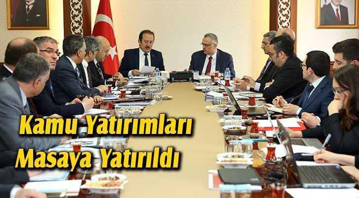 Bayburt'ta Kamu Yatırımları Masaya Yatırıldı
