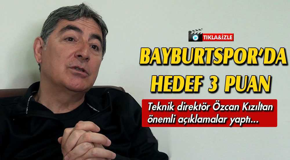 Bayburtspor'da Kocaelispor Maçı Öncesi Hedef 3 Puan