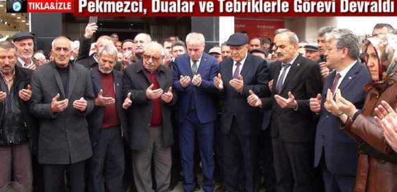 Belediye Başkanı Pekmezci Dualar ve Tebriklerle Görevi Devraldı