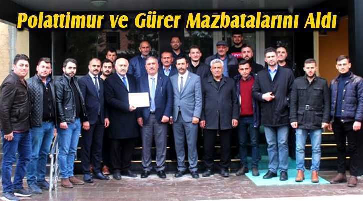 AK Parti'de Gürer ve Polattimur Mazbatasını Aldı