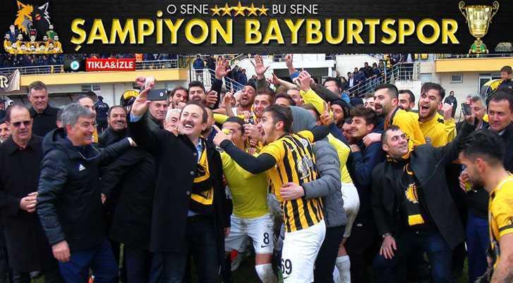 Bayburtspor Sezon Bitmeden Şampiyonluğunu İlan Etti