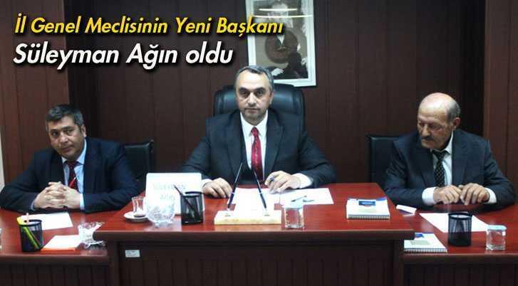 Bayburt'ta İl Genel Meclisi Başkanı Süleyman Ağın Oldu