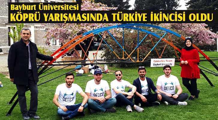 Bayburt Üniversitesi Köprü Yarışmasında Türkiye İkincisi Oldu
