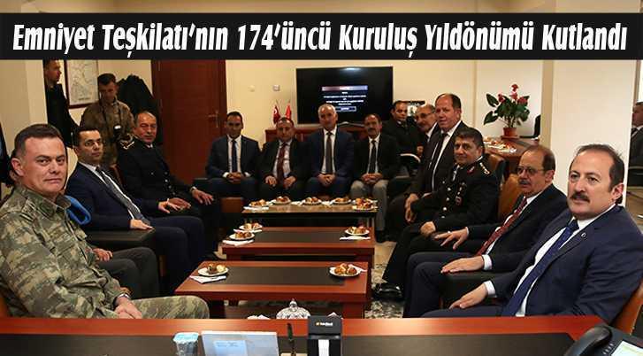 Emniyet Teşkilatı'nın 174'üncü Kuruluş Yıldönümü Kutlandı