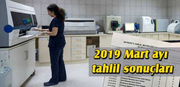 Bayburt'ta 2019 Mart Ayı İçme Su Analizleri