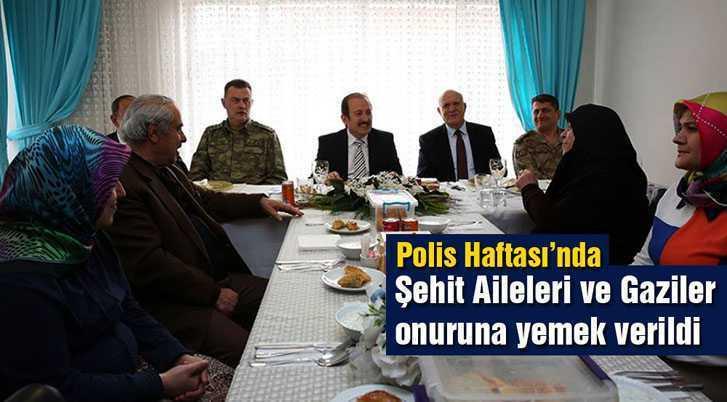 Polis Haftası'nda Şehit Aileleri ve Gaziler Onuruna Yemek Verildi