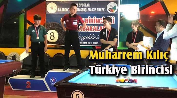 Bilardo Şampiyonasında Muharrem Kılıç Türkiye Birincisi Oldu