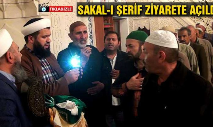 Bayburt'ta Hz. Ömer Camii'nde Sakal-ı Şerif Ziyarete Açıldı