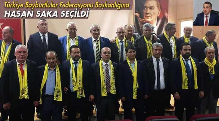 Türkiye Bayburtlular Federasyonu Başkanlığına Saka Seçildi