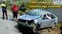 Bayburt'ta Takla Atan Otomobil Sürücüsü Ağır Yaralandı