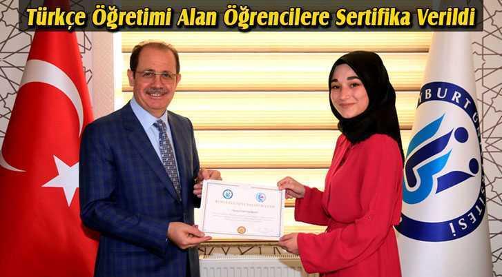 Bayburt Üniversitesi'nde Türkçe Öğretimi Sertifika Programı