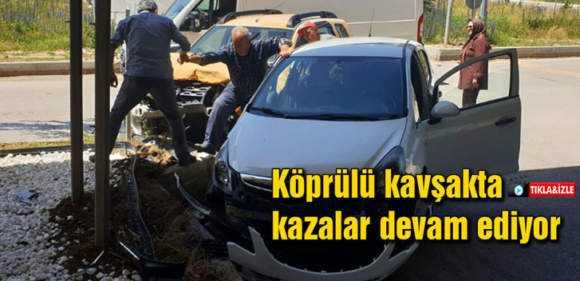 Bayburt'ta Köprülü Kavşakta Trafik Kazasında 1 Kişi Yaralandı