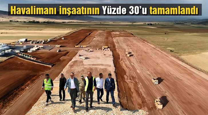 Bayburt – Gümüşhane Havalimanının Yüzde 30'u Tamamlandı