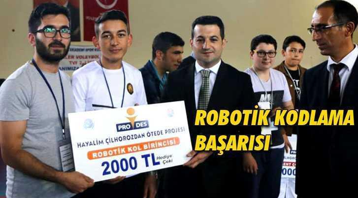 Bayburt İmam Hatip Lisesi'nden Robotik Kodlama Başarısı