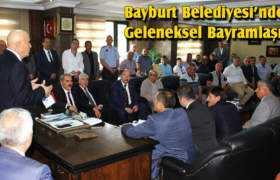 Bayburt Belediyesi'nde Geleneksel Bayramlaşma