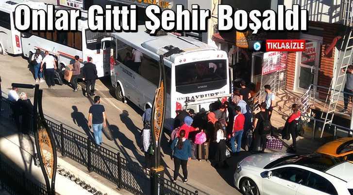 Bayburt'ta Üniversitesi Öğrencileri Gitti Şehir Boşaldı
