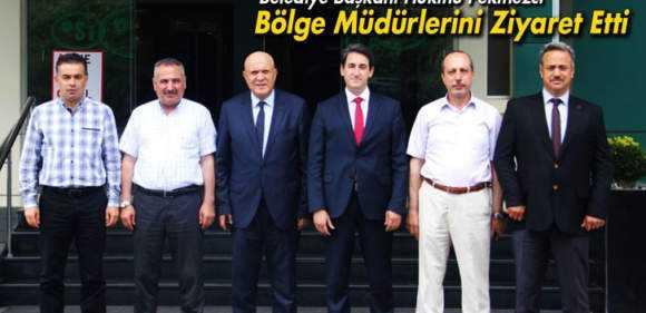 Belediye Başkanı Pekmezci Bölge Müdürlerini Ziyaret Etti