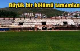 Genç Osman'da Yeni Tribünün Büyük Bir Bölümü Tamamlandı