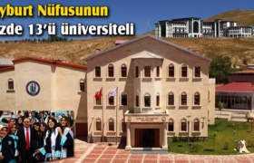Bayburt Nüfusunun Yüzde 13'ünü Üniversiteli Oluşturuyor