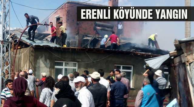 Bayburt'un Erenli Köyünde Yangın
