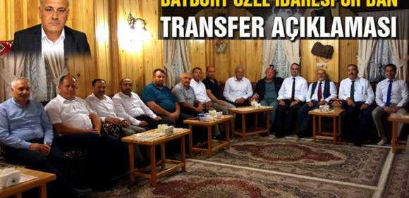 Bayburt Özel İdarespor'dan Transfer Açıklaması