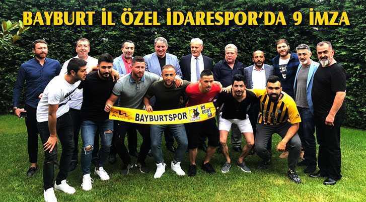 Bayburt İl Özel İdarespor 9 Futbolcuyla Anlaşma Sağladı