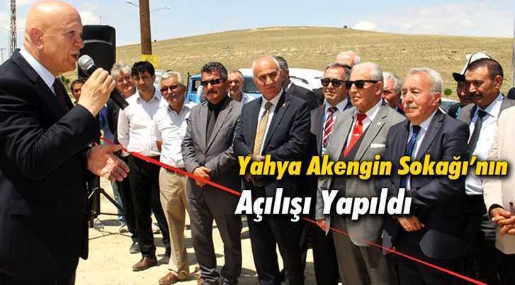 Bayburtlu Şair ve Yazar Yahya Akengin Sokağı'nın Açılışı Yapıldı