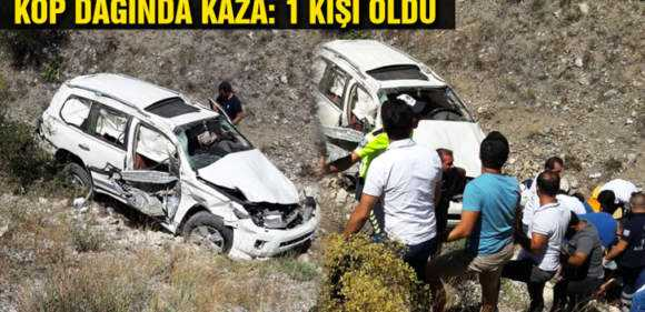 Kop Dağında Trafik Kazası: 1 Kişi Öldü 6 Kişi Yaralandı