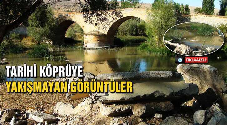 Tarihi Korgan Köprüsüne Yakışmayan Görüntüler