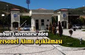 Bayburt Üniversitesi'nden Personel Alımı Açıklaması