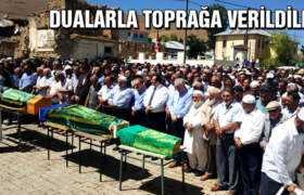 Yukarı Kırzı Köyünde Dualarla Toprağa Verildiler…