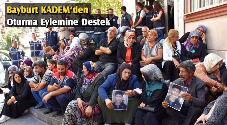Bayburt KADEM'den Diyarbakır'da Oturma Eylemine Destek