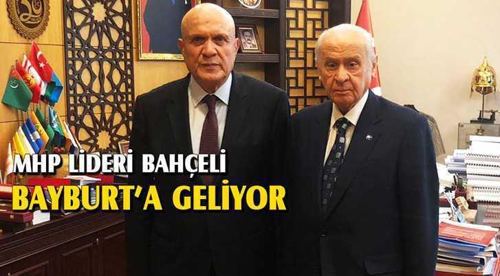 MHP Lideri Bahçeli Teşekkür Ziyareti İçin Bayburt'a Geliyor