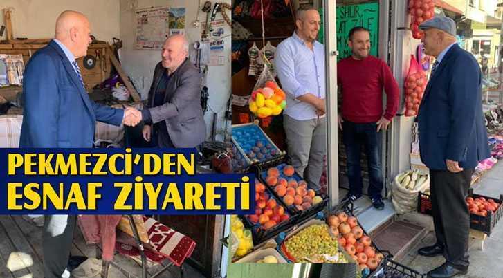Belediye Başkanı Pekmezci'den Esnaf Ziyaretleri