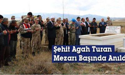 Şehit Agah Turan, Mezarı Başında Anıldı