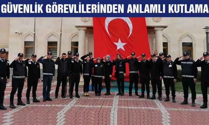 Bayburt'ta, Özel Güvenlikler Görevlilerinden Anlamlı Kutlama