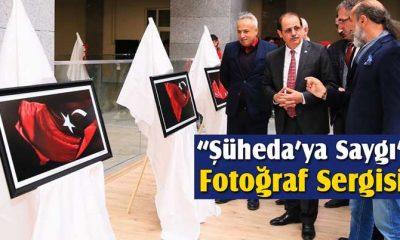 """Bayburt Üniversitesi'nde """"Şüheda'ya Saygı"""" Fotoğraf Sergisi"""