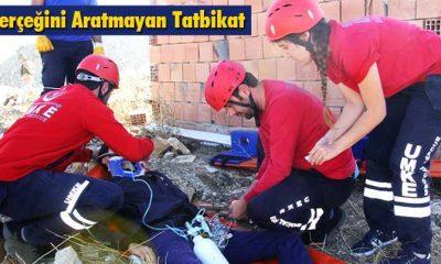 Bayburt'ta AFAD'tan Gerçeğini Aratmayan Deprem Tatbikatı