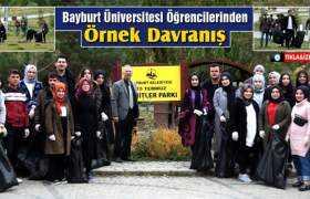 Bayburt Üniversitesi Öğrencilerinden Örnek Davranış