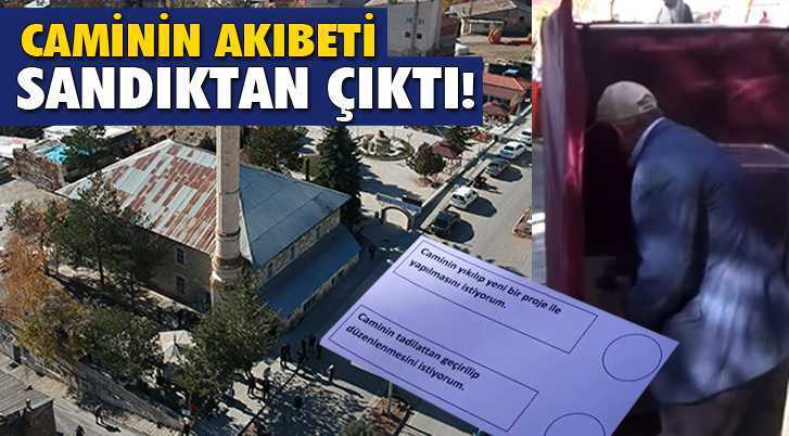 Bayburt'ta Caminin Akıbetine Sandıkta Halk Karar Verdi