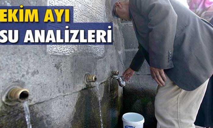 Bayburt'ta Ekim Ayı İçme Su Analizleri