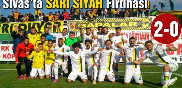 Sivas'ta Sarı Siyah Fırtınası Sert Esti!