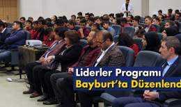 Mesleki Eğitim Liderler Programı Bayburt'ta Düzenlendi