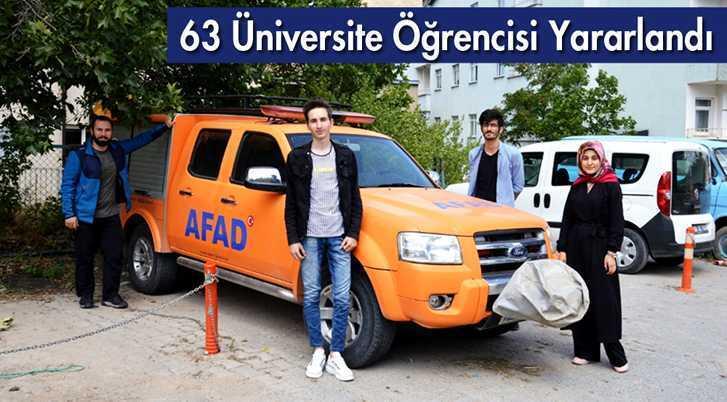Sosyal Çalışma Programından 63 Üniversite Öğrencisi Yararlandı